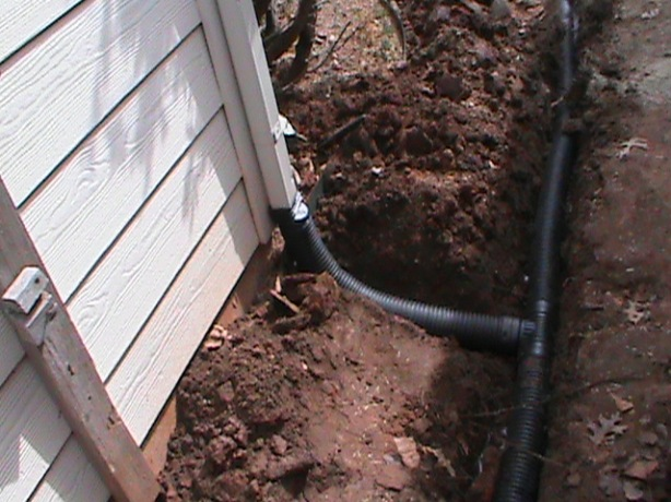 Connecting Gutter into French Drain System