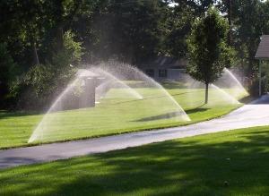 Sprinkler System at work