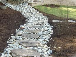 Stepping stone french drain