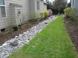 French Drain with stepping stones