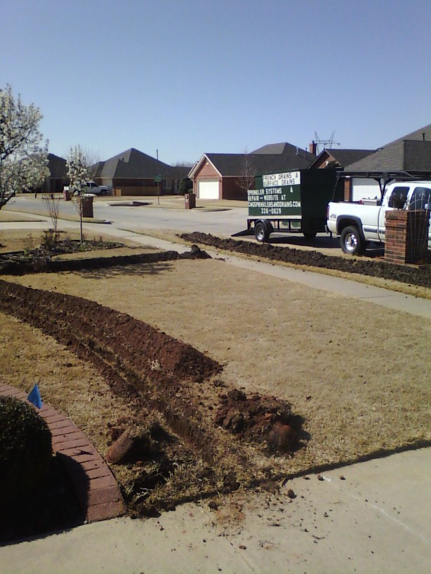 Sprinkler Installation in Norman in January