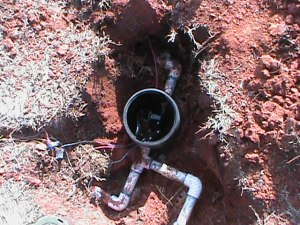 Replacing a broken Sprinkler Valve in Edmond.
