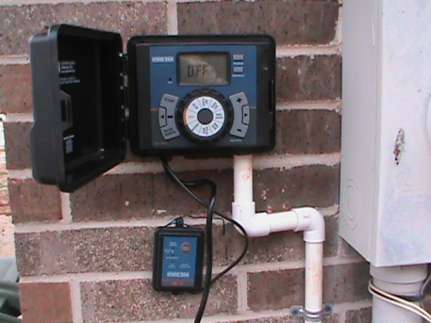 Sprinkler Controller Installation with Rain/Freeze Sensor