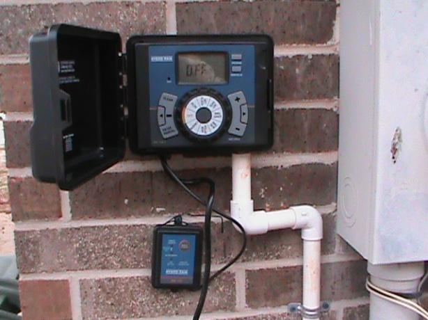 Sprinkler Controller Installation with Rain/Freeze Sensor