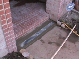 Channel Drain Installed by CMG