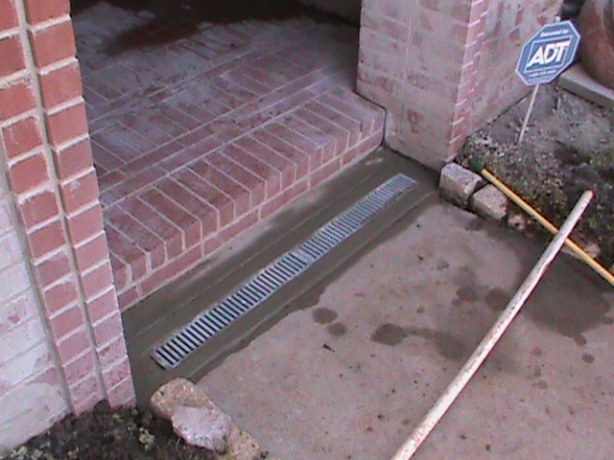 Channel Drain Installed by CMG In Yukon
