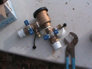 Above Ground Back Flow Valve Installation in Oklahoma City