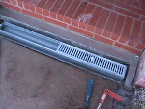 Channel Drain Installation in sidewalk in Oklahoma City