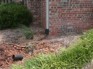 Connecting Gutters into a Drainage System is a good idea!