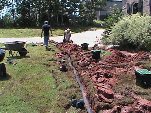 Surface Drain Installation in Oklahoma City