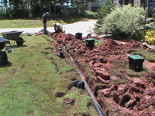 French drain angie s list a rating drainage systems for Surface drainage system