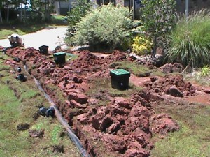 Surface Drain Installation in Norman