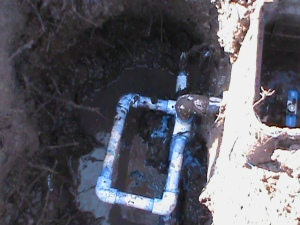 Repairing Broken Sprinkler Pipe Near Back-Flow-Valve