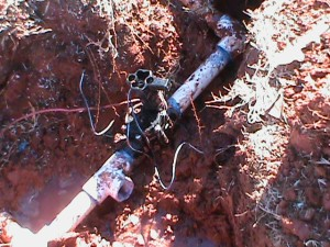 Replacing broken sprinkler valve in Oklahoma City