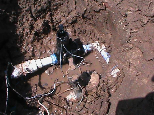 Replacing broken sprinkler valve