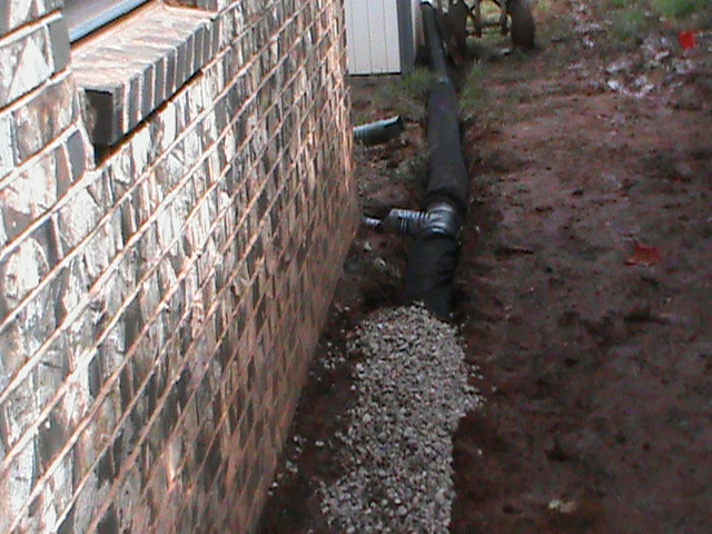 Large 6 Inch French Drain Installed in Norman