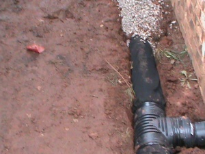 6 Inch French Drain Installation