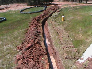 Trench for a 6 inch Drain Pipe