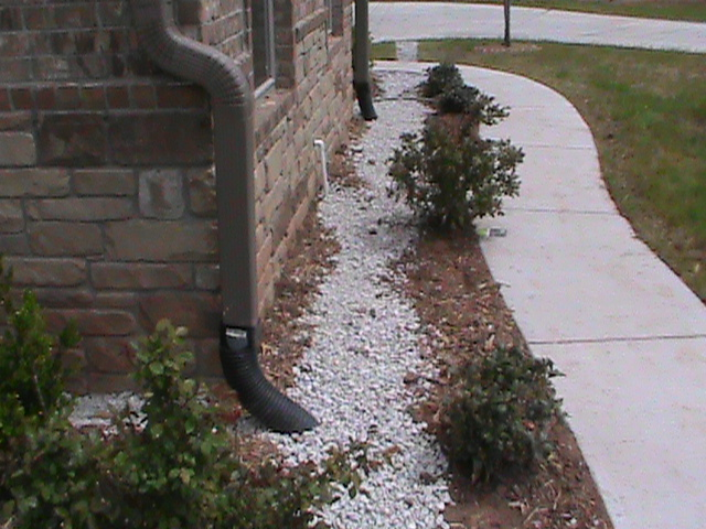 French Drain running along foundation