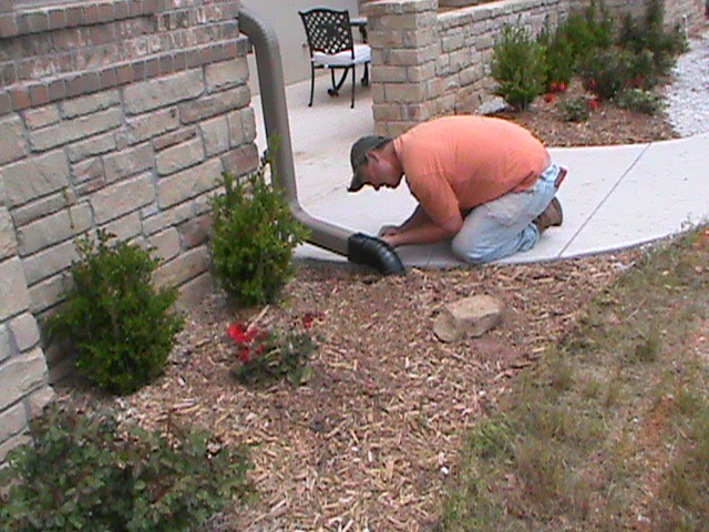 Oklahoma city sprinkler systems french drains central for Gutter drainage system