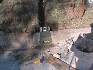 cement work curb outlet