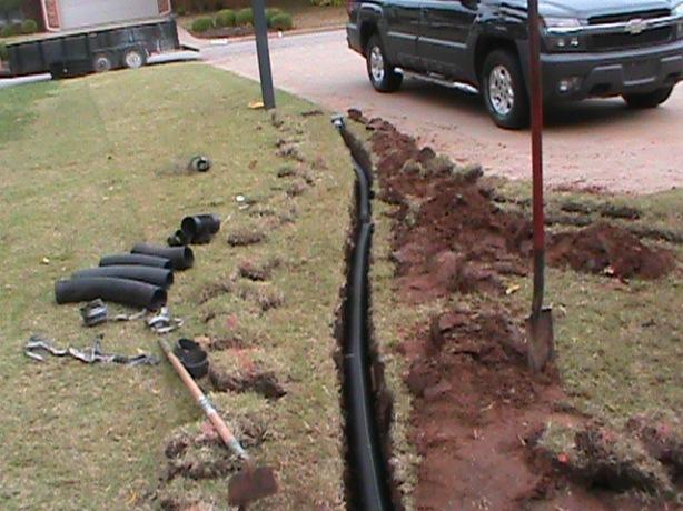 Drainage System Installation in Oklahoma City