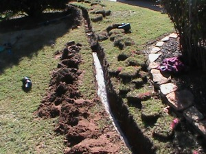 Digging a Trench for a French Drain