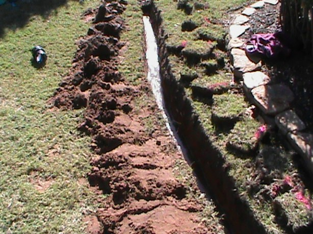Trench For Drainage System