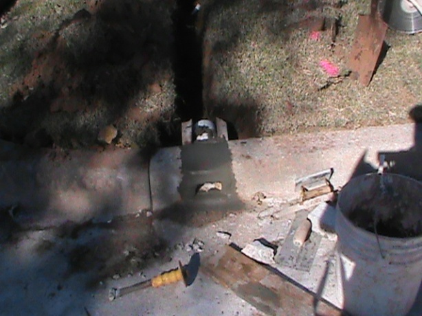 Curb Fitting with Acrylic Cement For French Drain