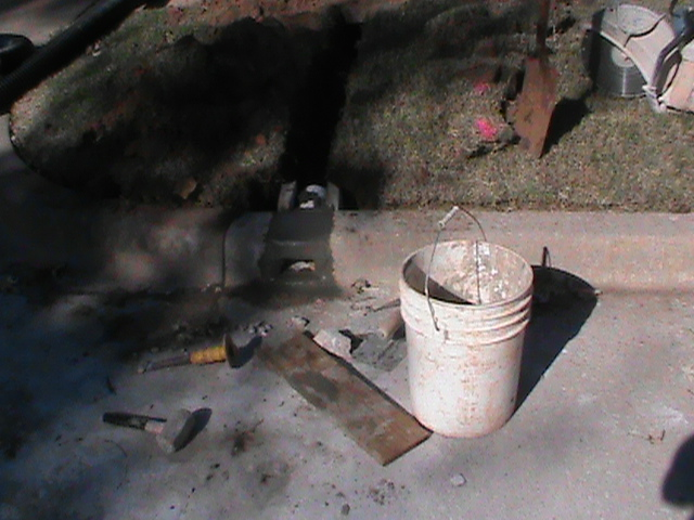 Installing Curb Fitting for French Drain