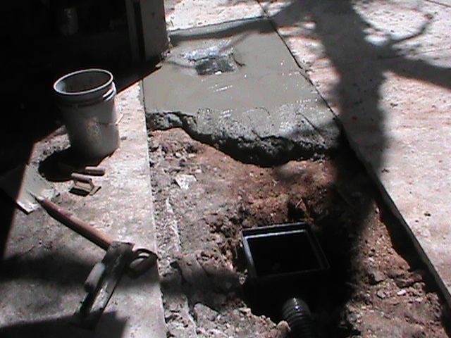 Drain Installation in the middle of a driveway