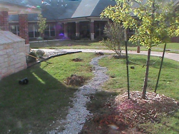 French Drain Installation in Norman