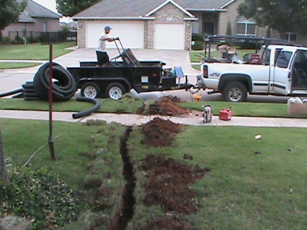 Installing Drain Pipe from French Drain in Back Yard