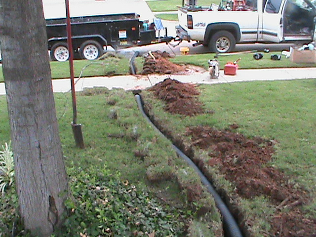 Pipe running to street form French Drain in  back yard.