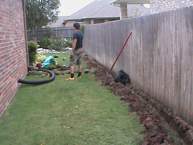 Connecting French Drain and Surface Drain to Drainage System