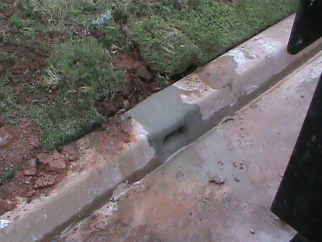 Curb outlet for a French Drain in Edmond