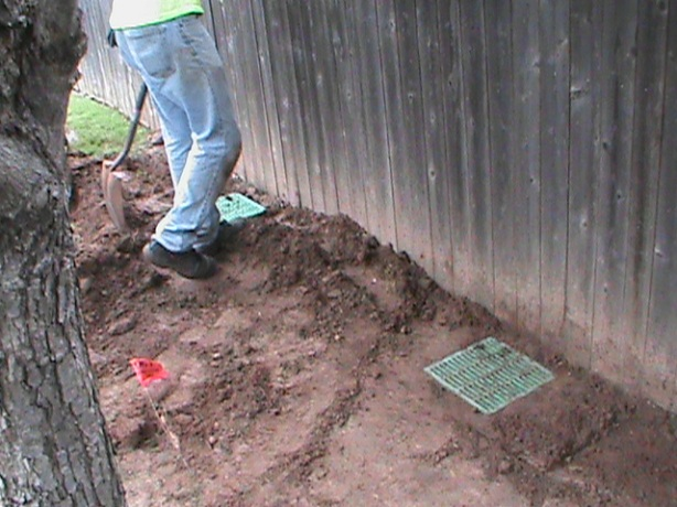 Surface Drain Installation in Edmond