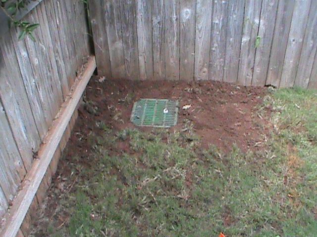 surface drain in corner