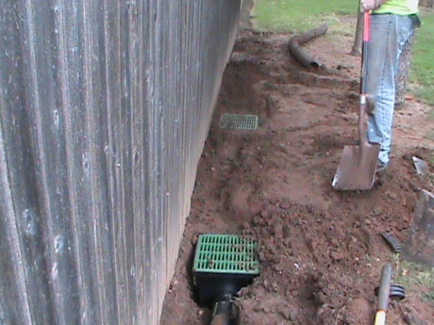 Surface Drains installed in Edmond