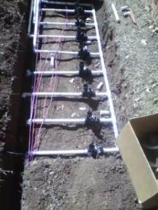 big sprinkler valve install