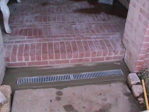 Channel drain in concrete