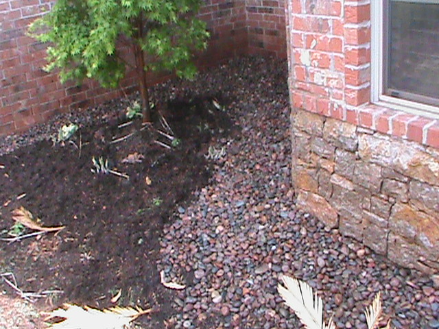 colored gravel french drain