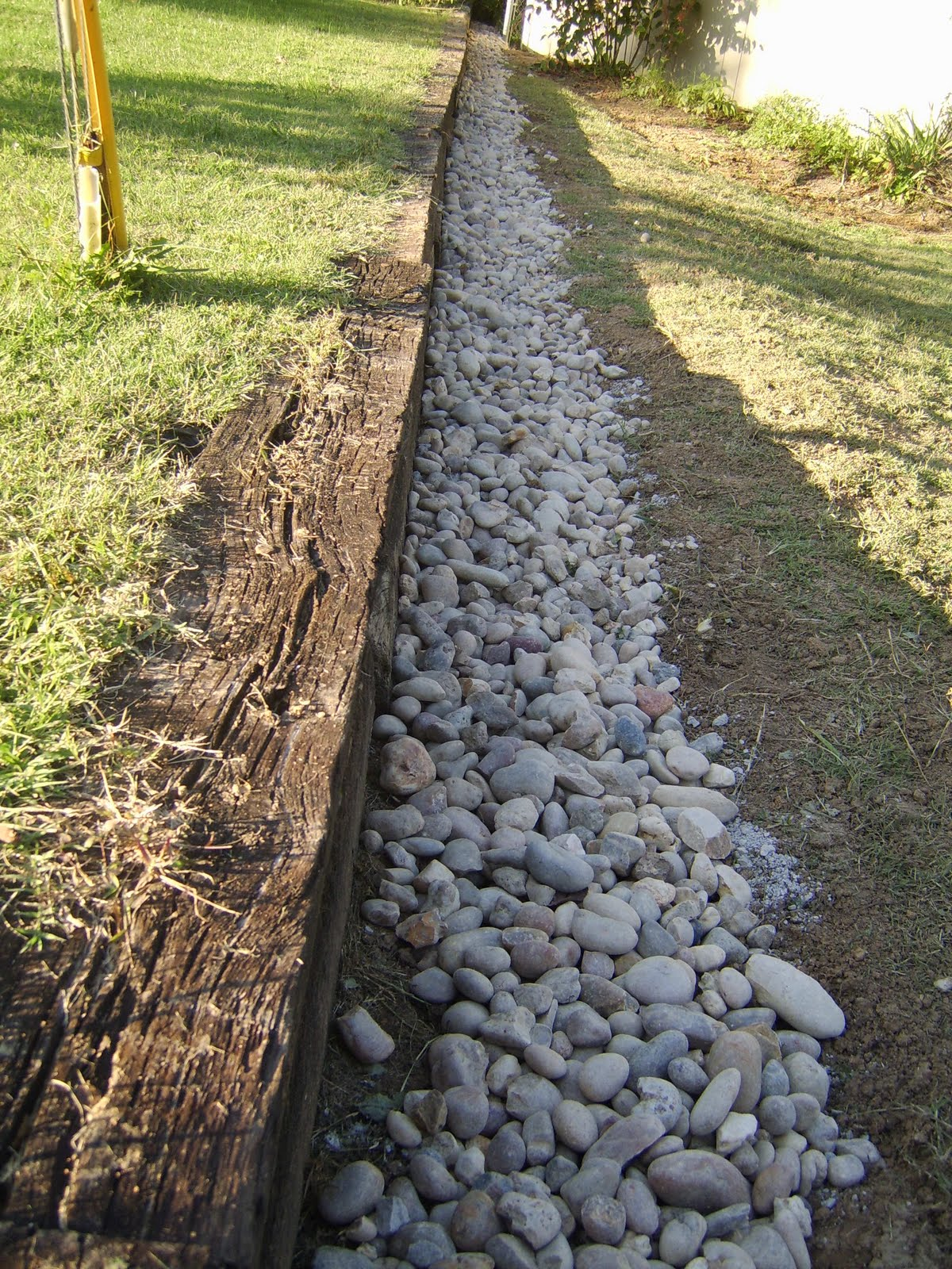 river rock french drain