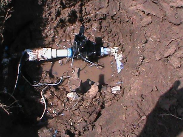 new valve in mud