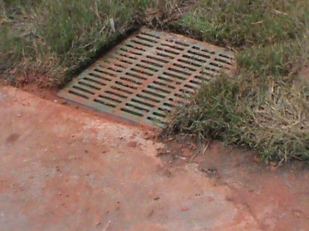 Surface Drain next to sidewalk