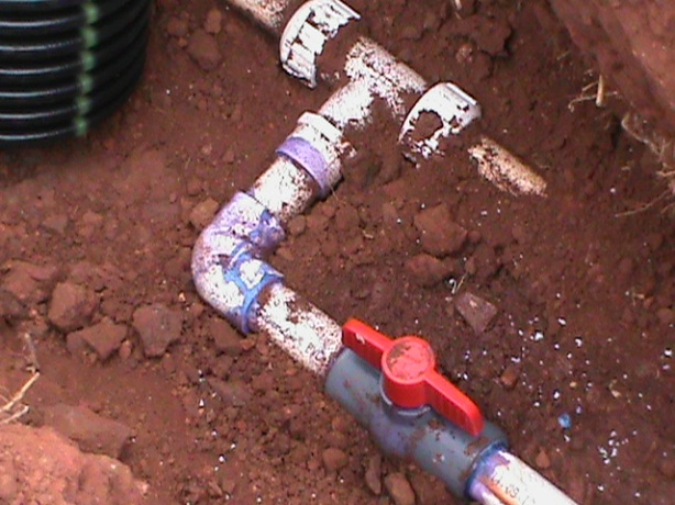 sprinkler water line connection