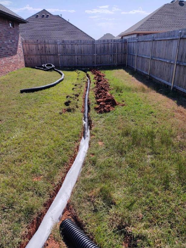French Drain trench liner