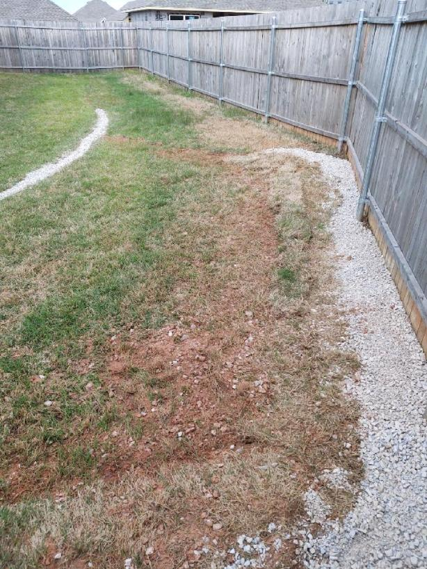 french drain with limestone