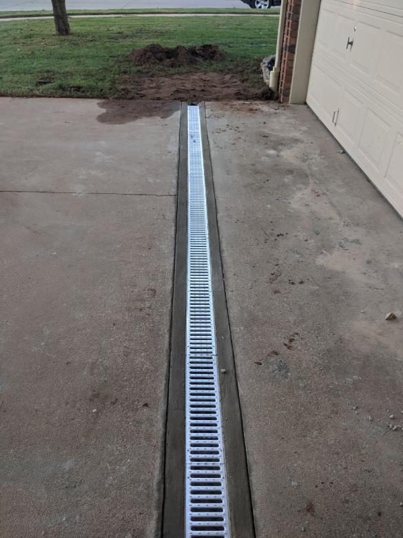 Installing concrete channel drain