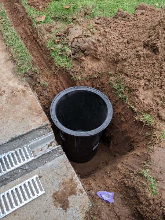 Sump Pump Drain Cavity